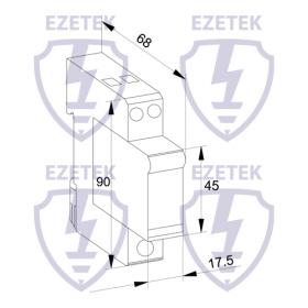 Устройство грозозащиты EZ DM 10/150 (2+0)